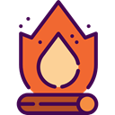 hot, Burn, Flame, nature, halloween, Bonfire, Camping, campfire Tomato icon