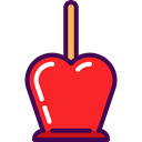Caramelized Apple, Food And Restaurant, food, Fruit, organic, Dessert Crimson icon