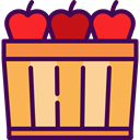Apple, food, Fruit, organic, Apples, diet, vegetarian, vegan, Healthy Food, Food And Restaurant Indigo icon