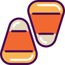 food, fall, Dessert, sweet, Cereal, Candies, autumn, Food And Restaurant, Candy Corn Tomato icon