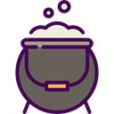 food, Cook, halloween, pot, Cauldron DimGray icon
