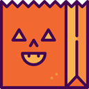 Terror, paper bag, spooky, scary, fear, halloween, horror Icon
