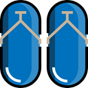 Flip flop, fashion, sandals, footwear, flip flops, Summertime DarkCyan icon