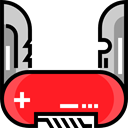 miscellaneous, equipment, Switzerland, Blade, Tools And Utensils, Swiss Army Knife Crimson icon
