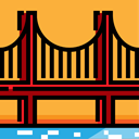 America, united states, Monument, engineering, landmark, Monuments, Golden Gate Bridge SandyBrown icon