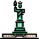 America, united states, Monument, New york, landmark, Monuments, Statue Of Liberty Black icon