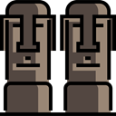 landmark, Monuments, Easter Island, Moais, Chile, Monument, Statue DarkSlateGray icon