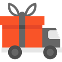 Delivery Truck, Cargo Truck, Delivery, transportation, truck, transport, vehicle, Automobile Tomato icon