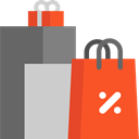 online store, purchases, Commerce And Shopping, Supermarket, Shopping bags, Shopper, online shop, commerce, shopping, Bag, shopping bag Tomato icon
