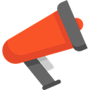 Megaphones, bullhorn, protest, Communications, announcer, announcement, loudspeaker, shout Black icon