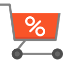 trolley, shopping cart, Shop, sale, Full, store, Cart, shopping, market, Discount, Commerce And Shopping Tomato icon