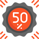 sticker, Discount, percentage, signs, star, Design, commerce, Badge, Badges, Commerce And Shopping Tomato icon