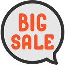 commerce, Shop, sticker, Sales, Commerce And Shopping, online shop, online store, Big Sale, Shopping Store Gainsboro icon