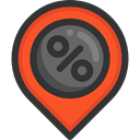 interface, pin, placeholder, signs, map pointer, Map Location, Map Point, Maps And Location DarkSlateGray icon