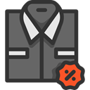 Tie, Shirt, Clothes, clothing, Discount, fashion, Elegant, Masculine DarkSlateGray icon