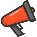 announcement, loudspeaker, announcer, Megaphones, shout, bullhorn, protest, Communications DarkSlateGray icon