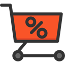 Full, store, Cart, shopping, trolley, shopping cart, Shop, sale, market, Discount, Commerce And Shopping DarkSlateGray icon