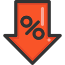 Percent, shapes, Sales, Discount, percentage, signs, Commerce And Shopping Tomato icon