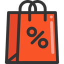 Business, commerce, Shopper, Commerce And Shopping, shopping, Bag, shopping bag, Supermarket Tomato icon