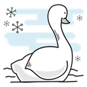 christmas, bird, Duck, swimming, goose, swan Lavender icon
