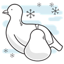 christmas, bird, pear, partridge Lavender icon