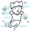 crown, lord, prince, leaping, Boy, king, christmas Lavender icon