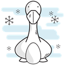 Laying, geese, christmas, Duck, goose, egg Lavender icon
