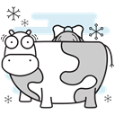 christmas, cow, Farm, Maid, milking Black icon