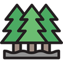 Tree, nature, garden, Forest, Pine, yard, pines, Botanical, Ecology And Environment Black icon