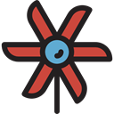 miscellaneous, nature, Toy, Windmill, mill, wind, pinwheel, Farming And Gardening Black icon