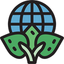 Earth Globe, Ecologic, Maps And Location, planet, plant, nature, leaves, worldwide, ecology, Planet Earth, Ecology And Environment Black icon