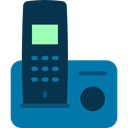 phone receiver, Communication, phones, phone call, telephone, technology, Telephones DarkCyan icon