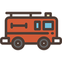 transportation, transport, vehicle, emergency, Automobile, fire truck DarkSlateGray icon