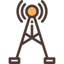 Energy, power, electricity, antenna, technology, Communications, High Voltage Black icon