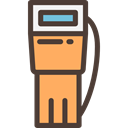transportation, gas station, petrol station, buildings, petrol, recharge, gasoline DarkSlateGray icon