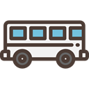 Bus, Automobile, Public transport, transportation, transport, vehicle DarkSlateGray icon