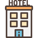 hotel, buildings, Hostel, Holidays, vacations, Architecture And City DarkSlateGray icon