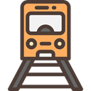 Subway, Railway, transportation, travel, transport, train, public DarkSlateGray icon