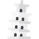 Monuments, Architectonic, Leaning Tower Of Pisa, italy, Building, europe, landmark WhiteSmoke icon