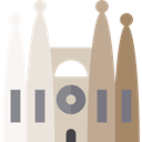 christian, Catholic, Monuments, Holy Family, spain, church, buildings, Monument, Sagrada Familia Gray icon