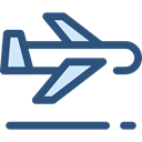 Airport, transportation, Plane, transport, flight, Aeroplane, airplane DarkSlateBlue icon