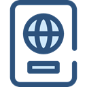 document, Identity, passport, travel, technology, identification DarkSlateBlue icon