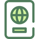 document, Identity, passport, travel, technology, identification DimGray icon