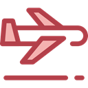Plane, transport, flight, Aeroplane, airplane, Airport, transportation Sienna icon