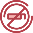 forbidden, no smoking, Signaling, Unhealthy, Smoke, Cigarette, prohibition, signs Sienna icon