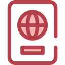 document, Identity, passport, travel, technology, identification Sienna icon