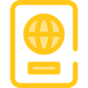 travel, technology, identification, document, Identity, passport Gold icon