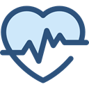 medical, frequency, pulse, Beating, Pulse Rate, graph, Heart DarkSlateBlue icon