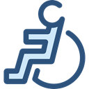 Access, wheelchair, handicap, Tools And Utensils, Disabled, hospital, disability DarkSlateBlue icon