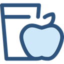 Apple, Heart, love, Fruit, diet, Health Care DarkSlateBlue icon